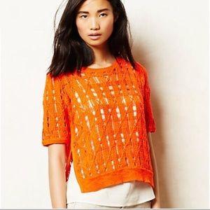 Anthropologie side slice sweater Petite XS